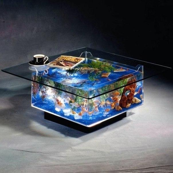 Image to the word живой стол,  Pictures gallery of Zinkod, Zingi, Zinkod, Zinsay, Zinous, QRzin, Журнальный столик с аквариумом